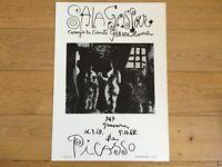 Original Exhibition Poster PICASSO Cartel Original  SALA GASPAR 1970  500 Copies