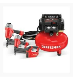 CRAFTSMAN 6-Gallon Single Stage Portable Electric Pancake Air Compressor 3-Tool