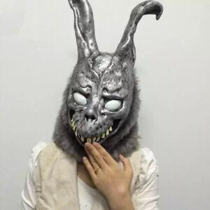 Donnie Darko FRANK Rabbit Mask The Bunny Latex Hood With Fur Halloween Gift New