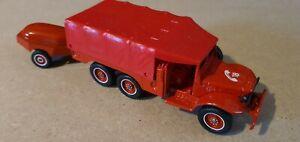 Solido pompier 1/50 , Dodge 6x6 avec pompe