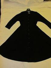 Vintage Jean Muir Studio black Wool crepe Dress Uk 12 10 excellent condition