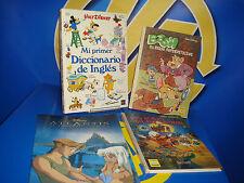 Lote de libros infantiles Walt disney-cuatro libros diferentes-observa las fotos