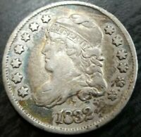 1832 Capped Bust  Half Dime TONER Very Fine VF or Extremely Fine Dets Dinged