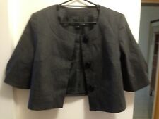 BASQUE NWOT Sz12 Charcoal Suit / Corporate / Casual Cropped Jacket Stretchy