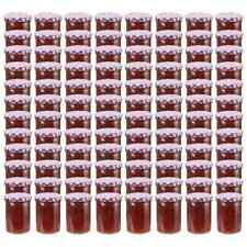 vidaXL 96x Jampot met Wit Paarse Deksel Glas Pot Glazen Opbergpot Jampotten