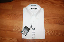 NWT Mens Kirkland White L/S Button Up Dress Shirt Traditional Fit L 16 1/2 X 33
