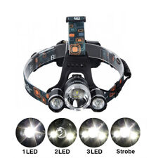 G4 AUTOMOTIVE 1x CREE 3-LED Headlamp Zoomable Flashlight + Charger 18650 Battery