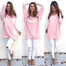 Pink Long Jumper Stretch M Size Boho Hippy Bright Baby Pink Cyber Baby Doll
