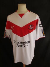 Rare maillot de rugby vintage  XIII porté St HELENS N°9 Super League Puma Taille