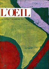 L'OEIL REVUE D'ART N. 81 SEPTEMBRE 1961