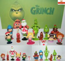 12x The Grinch Movie Cartoon PVC Figure Doll Toy Action Figures Toy Xmas Gift