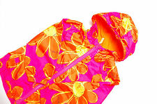 L176/18 Next Bright Orange/Pink Floral Wind/Shower Proof Jacket ,age 3-4, 104 cm