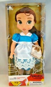 """Disney Animators Collection Doll Belle Beauty And The Beast 16"""" Blue Dress VInyl"""