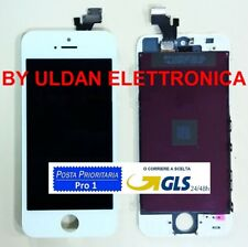 TOUCH SCREEN + LCD DISPLAY + FRAME PER APPLE IPHONE 5 5G VETRO SCHERMO BIANCO