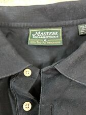 Masters Collection Polo Shirt MENS XL Navy 60's Two Ply Mercerized Pima Cotton