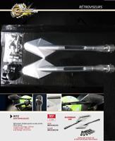 PAIRE RETROVISEUR ALU silver MOTO Suzuki Honda yamaha TRIUMPH Kawasaki 8mm 10mm