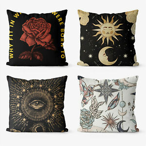 Poster Abstract Trippy 4 Pieces Two Sides Throw Cushion Pillow Case Cover