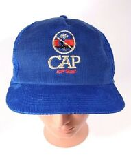 CP Rail CAP Hat Blue Corduroy Snapback Trucker Hat Cap Vintage Railway Railroad