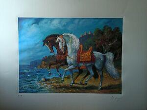 Giovan Francesco Gonzaga litografia cm 88×65 capolavoro certificato a norma