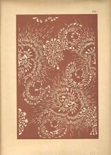 Stampa antica GIAPPONE JAPAN STYLE decorazioni fondo mattone 1885 Antique print