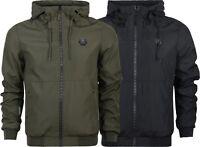 New Mens Crosshatch Hooded Jacket Genuine Hoodie Zipped  Wind Breaker S-XXL