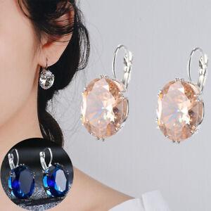 925 Silver Drop Earrings Adorable Women Jewelry 5 Color Cubic Zirconia Earrings