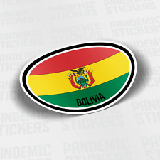 """/'/'SIZES/"""" Bolivia Flag Butterfly Car Bumper Sticker Decal"""
