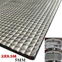 2X0.5M Car Sound Deadener Mat Noise Bonnet Insulation Deadening Heat Insulation