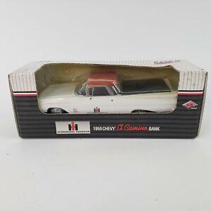 ERTL Case IH 1959 Chevy El Camino Coin Bank Die Cast Car 1/25 Chevy VTG 1995