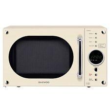 Daewoo KOR8A9RC 23L 800-Watt Retro Touch Control Microwave-Cream