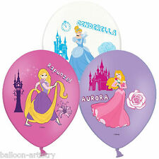 6 Disney Princess Children's Party Luxury 4 Colour Printed Latex Balloons