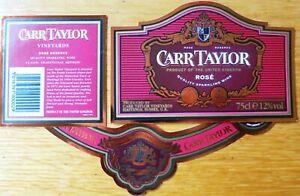 Etiquettes vin UNITED KINGDOM CARR TAYLOR ROSE Sparkl  English Table Wine Labels