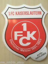 1. FC Kaiserslautern Aufkleber Sticker Logo Bundesliga Fussball