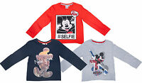Boys Mickey Mouse Selfie NY GB Long Sleeve T Shirt Kids Girls Age 3 4 6 8 Years