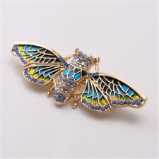 Fashion Crystal Rhinestone Cicada Insect Brooch Corsage Clothing Accessories
