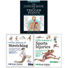 Concise Book of Trigger, Anatomy of Stretching and Sports Injuries 3 Books Set