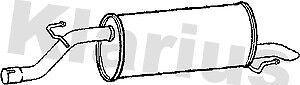 For Vauxhall Corsa MK 3 1.0 Hatchback 2006-2014 Klarius Exhaust Rear Back Box