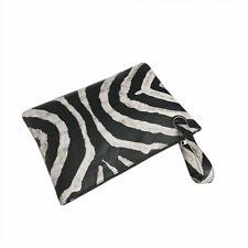CLUTCH BAG PURSE ANIMAL PRINT WITH WRIST STRAP LINED INTERIOR WRISTLET ZEBRA