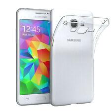 Für Samsung Galaxy Grand Prime Hülle Case Silikon Cover Handy Schutz Transparent