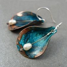 Boho Style Fashion Women Earrings Silver Pearl Dangle EarringsWedding Jewelry