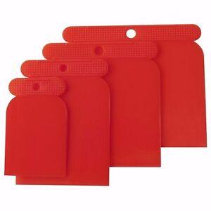 Mannesmann Flexible Plastic Filler Scraper Set 4pcs. Car Body Filler VPA GS TUV