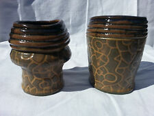 Matching Ceramic Cups - Sgraffito - Decorative - Direct from the Artist