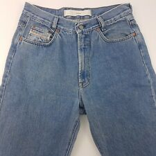 Diesel Mens Jeans W33 L32 Medium Wash Blue Relaxed Fit Straight High Rise Zip