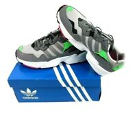 New Adidas Yung-96 J Athletic Sneakers Suede Grey Green White Men's Size 7