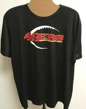 NFL Team Apparel Tee (XXL) SF49ers. Black. Nike Swoosh. Dri Fit. Short Sleeved.