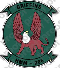 STICKER USMC HMM 266 GRIFFINS   ooo   USMC Lisc No 20187
