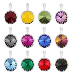 Sterling Silver Pendants made with 1122 10mm Rivoli Swarovski® Crystals