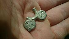 Magnifique Celtique Argent Massif Décoration Partie beau design rare objet 4.60 G