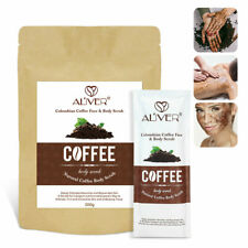 Aliver Colombian Coffee Beans Natural Face Body Scrub Anti Cellulite Detox 200g