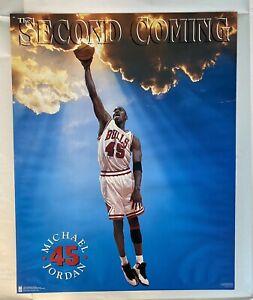Vintage 1995 Bulls JORDAN #23 #45 THE SECOND COMING Dunk Costacos 16x20 Poster